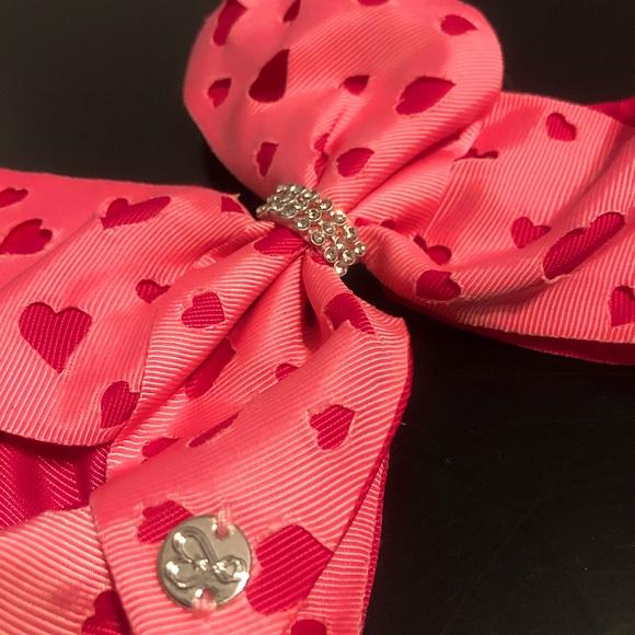 JoJo Siwa Pink & Red Hearts Bow